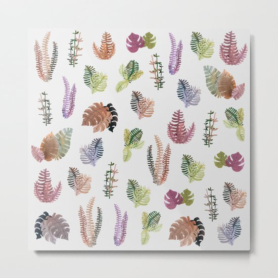 tropical leaves color Metal Print