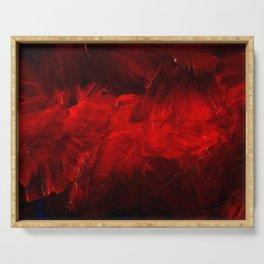 Modern Art - Dark Red Throw Pillow - Jeff Koons Inspired - Postmodernism - Corbin Henry Serving Tray