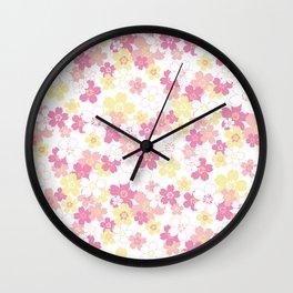 Cherry Blossom-pink Wall Clock