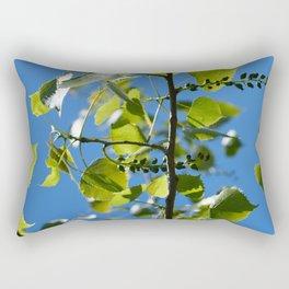 aspen leaves and blossoms Rectangular Pillow