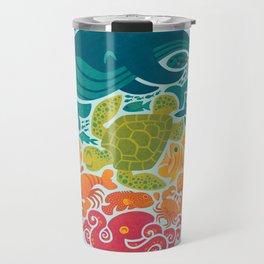 Aquatic Rainbow (light blue) Travel Mug