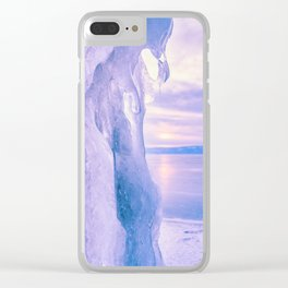 Ice cliff of Lake Baikal Clear iPhone Case