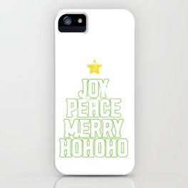 Joy Peace Merry Ho Ho Ho iPhone Case