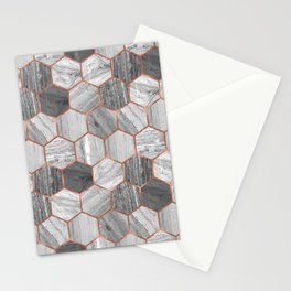 Marble Hexagons Stationery Cards