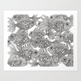 Fish School II Art Print