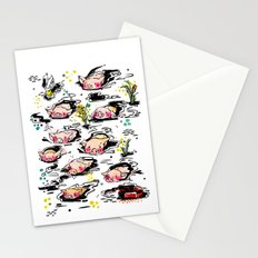 Swimming pigs Stationery Cards