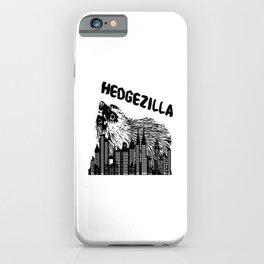 black hedgezilla hedgehog hedgehog skyline big sweet iPhone Case