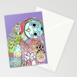 Owl Snap Back Stationery Cards