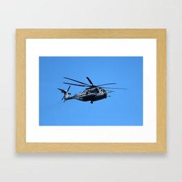 Marine Helicopter In Flight Framed Art Print