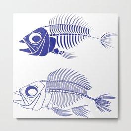 Fish bone Skeleton Metal Print