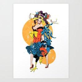 cocktail oiran girl Art Print