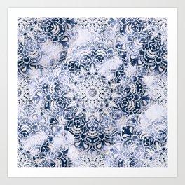 MANDALA WONDERLAND IN BLUE Art Print