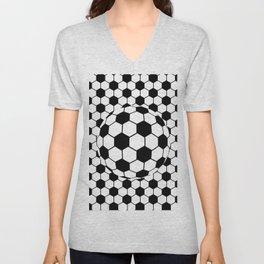 Black and White 3D Ball pattern deign Unisex V-Neck