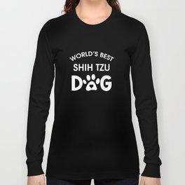World's Best Shitzu Long Sleeve T-shirt