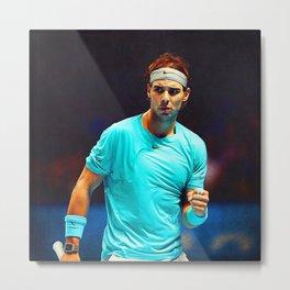 Rafael Nadal Tennis Metal Print