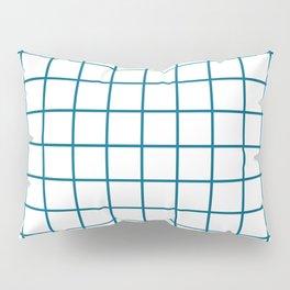 Grid Pattern Peacock Blue Pillow Sham