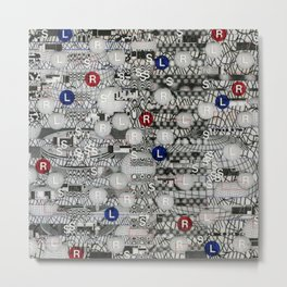 Do The Hokey Pokey (P/D3 Glitch Collage Studies) Metal Print