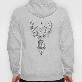 White Deer Symbol Hoody