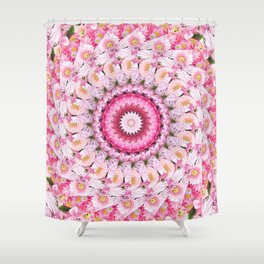 Bloom Bright Flower Photography Flat Lay Shower Curtain