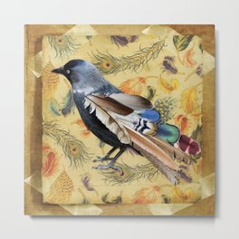 THE VAIN JACKDAW Metal Print