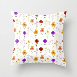 Delicate Florals-Light Throw Pillow
