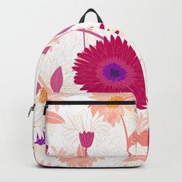 Colorful gerbera floral pattern Backpack