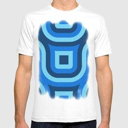 Blue Truchet Pattern T-shirt