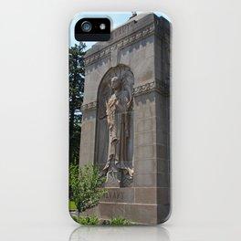 Calvary Cemetery Angel iPhone Case