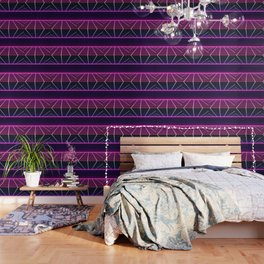 RETRO NEON GRID Wallpaper
