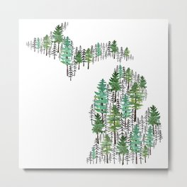 Michigan Forest Metal Print