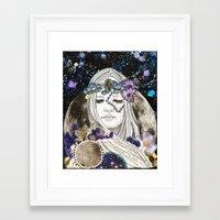 luna Framed Art Prints featuring Luna by Jenndalyn