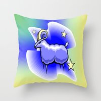 astrology Throw Pillows featuring Astrology, Capricorn by Karl-Heinz Lüpke