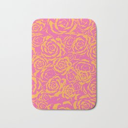 Succulent Stamp - Pink & Orange #315 Bath Mat