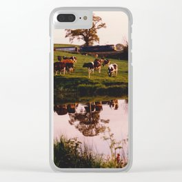 Cows in the Canal Clear iPhone Case