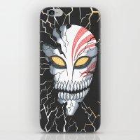 bleach iPhone & iPod Skins featuring Bleach Hollow Mask by MadameAce