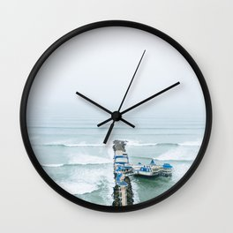 View off the Coast of Miraflores, Lima, Peru Wall Clock