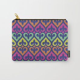 Fleur De lis & Hearts Carry-All Pouch