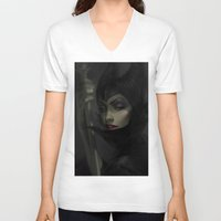 wicked V-neck T-shirts featuring Wicked by JoshBurnsArt