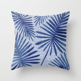 Mid Century Meets Mediterranean - Tropical Print Throw Pillow
