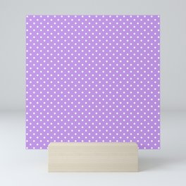 Mini Lilac with White Polka Dots Mini Art Print