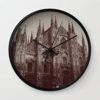 milan Wall Clocks featuring Milan Duomo, Milan by Albert Tjandra