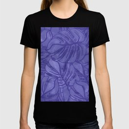 Monstera leaves - Ultra Violet and Lilac T-shirt