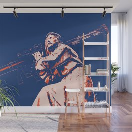 Rocket Propelled Christ - Who WOuld Jesus Blow Up Wall Mural