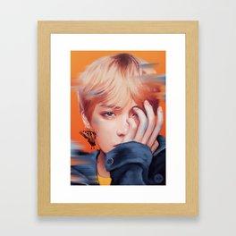 V - Butterfly Framed Art Print