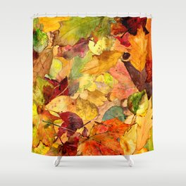 The Fall Forest Floor Shower Curtain