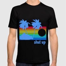 Shut Up Black Mens Fitted Tee X-LARGE
