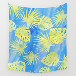Tropical Leaves Pattern 4 Wall Tapestry
