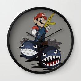 badass mario Wall Clock