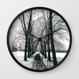 symmetry on snow day Wall Clock