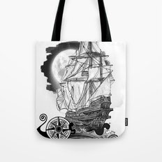 The sea route to the moon Tote Bag